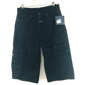 NWT! Marithe Francois Girbaud Black Cargo Shorts